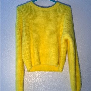 Forever 21 Yellow Cozy Sweater